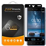 [2-Pack] Supershieldz for Nokia 8 Tempered Glass Screen Protector, [Full Screen Coverage] Anti-Scratch, Bubble Free, Lifetime Replacement Warranty (Black)