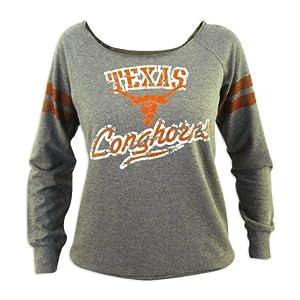 Texas Longhorns Flash Dance Long Sleeve Fleece Shirt by Glitter Gear