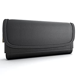 CellBee Nylon Heavy Duty Horizontal Pouch Carrying Case with Stainless Belt Clip for Samsung Galaxy Note 4