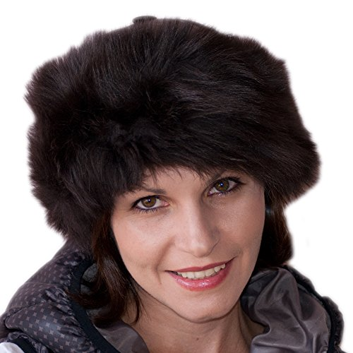 Dazoriginal Cappello Cossack Donna Moda Russo Cappello Elegante Cappello di pelliccia 100% Vera Pelle Womens Ski Cappello Cappello per l'inverno Colbacco in pelliccia Berretto da donna Ushanka Cappello pelliccia da donna in stile Cosacco Russo Marrone