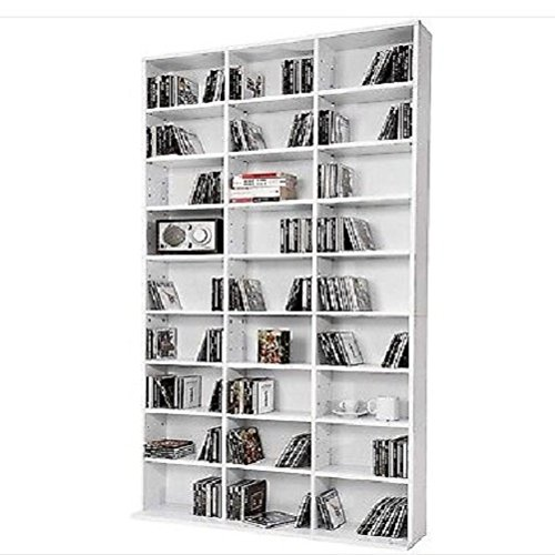 Cd Dvd Storage Rack Tower Unit Shelf Organiser Modern Wooden Furniture White / ome Sofa Table Bookcase Bed Chair Couch Dining Room Sets Sectional Living Modern Contemporary Wood Quality House Traditional Creative Unique Special Armchair Patio dresser Wood