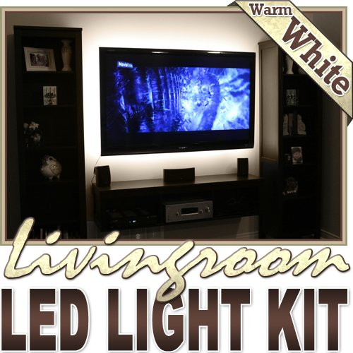 6' Ft Warm White Family Room Shelf Table Led Strip Lighting Complete Package Kit Lamp Light Diy - Behind Tv, Couch Lighting, Built In Wall Units, Around Fireplaces, Floating Shelves, Picture Frames, Aquariums Led Reading Light Strip Night Light Lamp Bulb