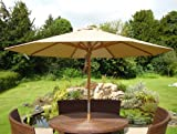 Diamond Parasol - 3M Diameter (Base Extra) - Aqua Blue