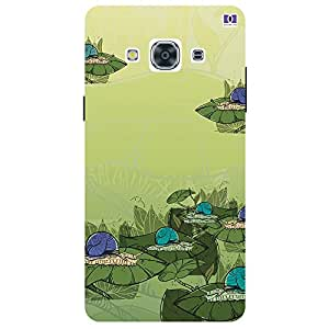 Blue & Green Design - Mobile Back Case Cover For Samsung Galaxy J3 Pro