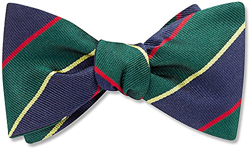 Argyle & Sutherland Green Striped, Men's Bow Tie, by Beau Ties Ltd of Vermont