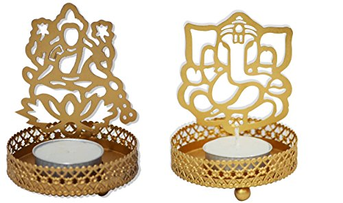 Tealight Candle Holder – Laxmi Ganesha Is an Add on for Your Prayer Table, Side Table Decoration, Diwali Gift, Corporate Gift, Add on Product for Your Temple At Home, Home Decor Item , Shagun For You – Combo Set
