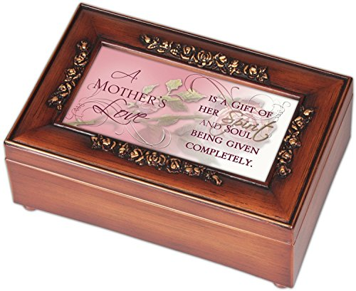 Mother's Love Rose Mother Mom Music Musical Jewelry Box - Plays What a Wonderful World
