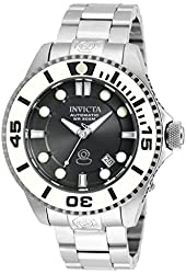 Invicta Pro Diver Automatic Charcoal Dial Stainless Steel Mens Watch 20172