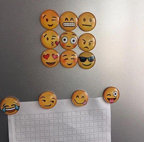 CharmTM 5 Pack Round 3D Emoji Fridge Magnets Party Favors (Emoji Fridge Magnets compare prices)
