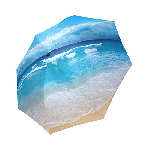 Personality High Quality New Brand Rain Umbrella Printing Beach,Sun and Sand Pictures Printed Auto Foldable Umbrella For Spring/summer
