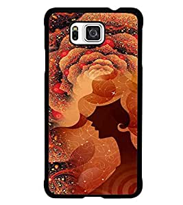 PrintDhaba Abstract Image D-4114 Back Case Cover for SAMSUNG GALAXY ALPHA (Multi-Coloured)
