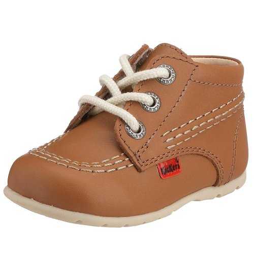 Kisses - Scarpe Primi Passi Unisex, colore marrone (tan/natural/natural), taglia 19.5 (4.5 UK)