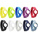 SKYLET Colorful Replacment Bands For Jawbone Up Move Pack Of 10 Slim