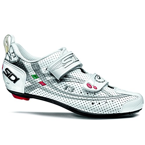 Sidi 2015 Men's T3.6 Air Speedplay Carbon Triathlon Cycling Shoe - White/Silver - 13311227
