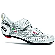Sidi 2015 Men's T3.6 Air Speedplay Carbon Triathlon Cycling Shoe - White/Silver - 13311227