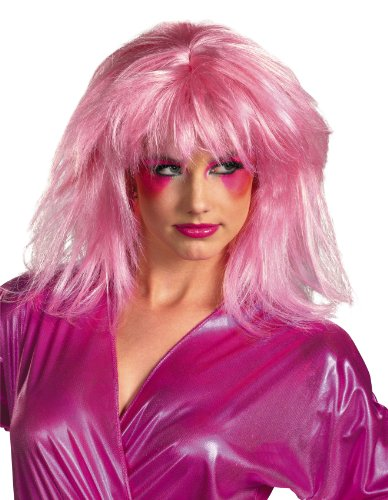 Disguise Jem and The Holograms Adult Costume Wig, Pink, One Size Adult
