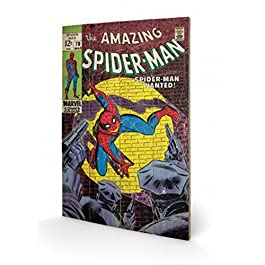 Spider-Man - Wanted Cuadro De Madera (60 x 40cm)