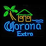 HOZER Professional 17*14 CORONAEXTRA Design Decorate Neon Light Sign Store Display Beer Bar Sign Real Neon Signboard for Restaurant Convenience Store Bar Billiards Shops