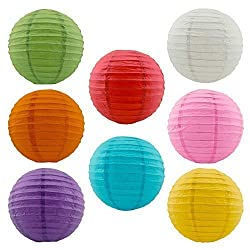 Adorox Chinese Paper Lanterns Wedding Party Event Decorations 8 Assorted Colors