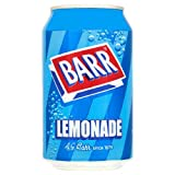Barr Fizzy Drinks 4 Flavours Cherryade Cream Soda Lemonade Cola 330ml Pack Of 24 Cans (Barr Lemonade 330ml Pack Of 24)
