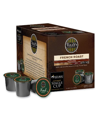 Keurig K Cups, 108-Count Tully's French Roast