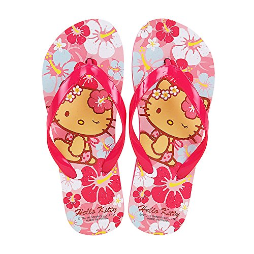 Sanrio-Hello-Kitty-Flip-Flops-Kids-Slippers-Summer-Shoes-Aloha-Suntan