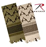 Rothco Crossed Rifles Shemagh Tactical Scarf in Olive Drab