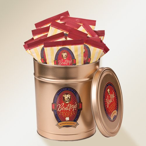 Bentley's Toffee Caramel Popcorn - Large Tin (34 bags)