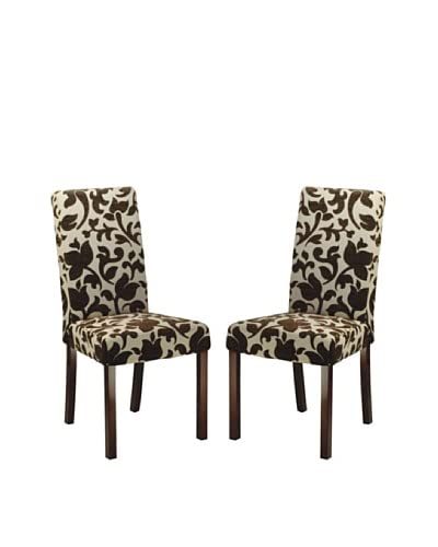 Safavieh Set of 2 Parsons Dining Chairs, Floral Print