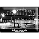Tin sign Dave Butcher knows black photographs night Sydney Harbour bridge opera-house Australia 20x30 cm Large Metal Wall Decoration Vintage Retro Classic Plaque