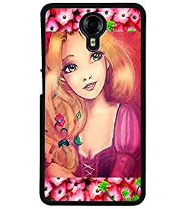 ColourCraft Cute Girl Design Back Case Cover for MICROMAX CANVAS XPRESS 2 E313