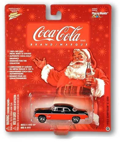Buy Coke Coca-Cola Santa & Polar Bears Collectable Johnny Lightning Car 1955 Chrysler C-300 #8