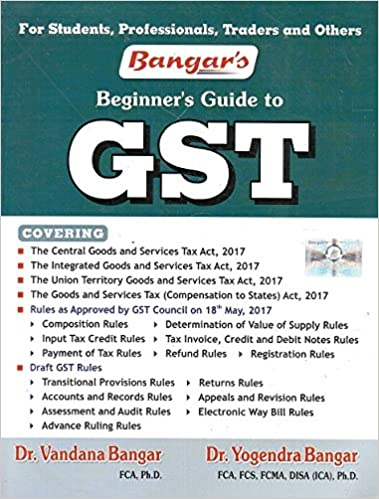 Bangar's Beginner's Guide to GST 2017