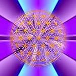 Blume des Lebens - Energiebild, Magnet, violett - Motiv 2