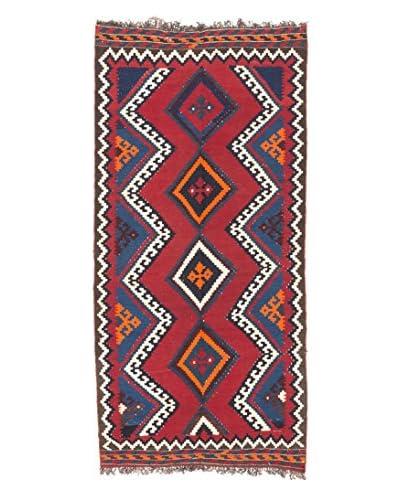eCarpet Gallery One-of-a-Kind Qashqai Rug, Dark Red, 4' 7 x 9' 6