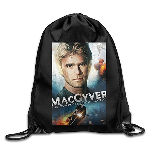 Drawstring Backpack Bag MacGyver -- Movie Poster
