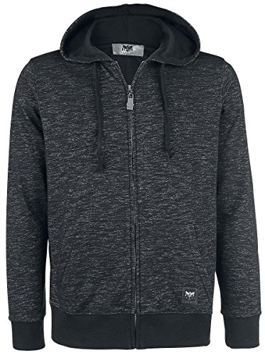 Black Premium by EMP Melange Hoodie Jacket Felpa jogging nero S