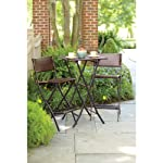 Living Accents 3 Piece High Dining / Bar Height Folding Wicker Bistro Set