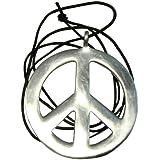 Halskette Peace Anhänger Friedenssymbol Hippie Kette Aluminium