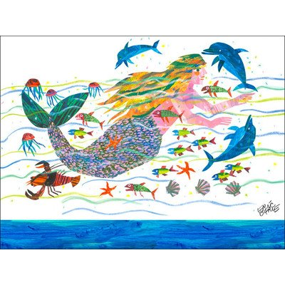 "Oopsy Daisy NI2596 Eric Carle's Mermaid Canvas Wall Art, 24"" by 18"""