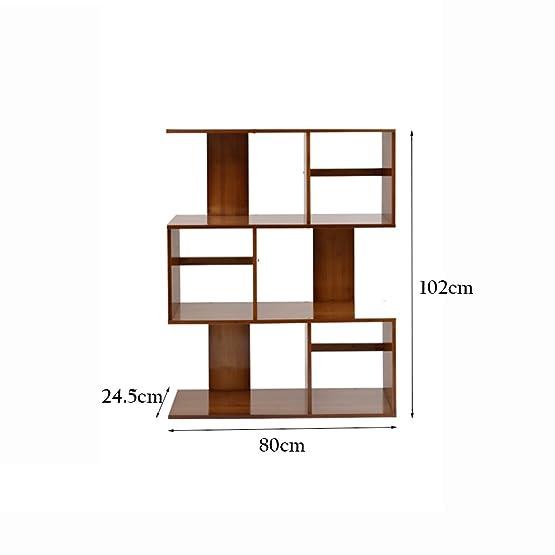 XIAOXIAO Scaffale combinato multifunzionale in legno massello per scaffali Facile da spostare ( dimensioni : 80*24.5*102 )