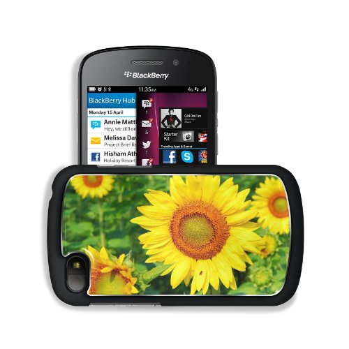 Sunflower Summer Romance Feelings Blackberry Sqn100 Q10 Snap Cover Premium Aluminium Design Back Plate Case Customized Made To Order Support Ready 4 13/16 Inch (123Mm) X 2 12/16 Inch (70Mm) X 8/16 Inch (13Mm) Liil Q10 Professional Metal Cases Touch Access