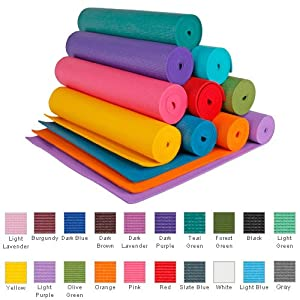 YogaAccessories (TM) 1/4'' Extra Thick High Density Yoga Mat (Phthalate Free) - Yellow
