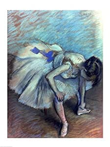 Seated Dancer - Poster by Edgar Degas (18 x 24)