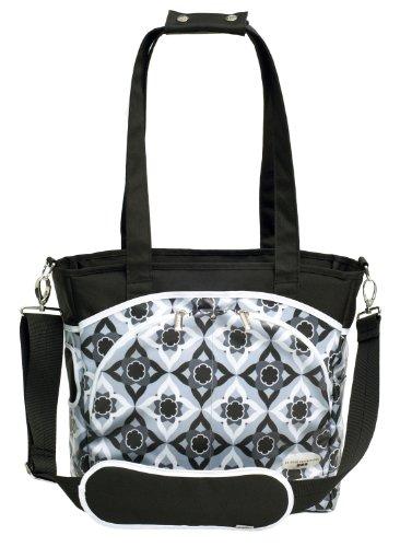 jj cole mode diaper tote bag black magnolia designer nappy bags. Black Bedroom Furniture Sets. Home Design Ideas