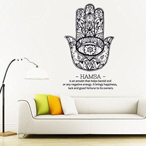 Wall Decal Vinyl Sticker Decals Art Decor Design Hamsa Hands Yin Yang Indian Buddha Ganesh Lotos Modern Bedroom Dorm Office Mural (R1163) front-880307