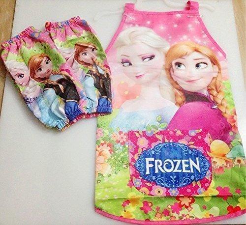 Frozen Elsa Anna Kids Waterproof Brand New Apron Sleeves Set - 1