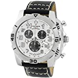 Akribos XXIV Men's AKR430SS Stainless Swiss Quartz Chronograph Watch