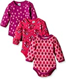 Care Baby - Mädchen Langarm-Body im 3er Pack, All over...
