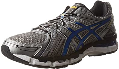 ASICS Men's GEL-Kayano 19 Running Shoe,Titanium/Royal/Black,11 2E US